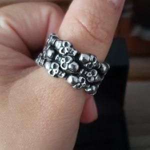 Gothic Skull Thumb Ring